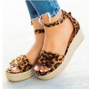 Shoes - ⚡️5 ⭐️⚡️LEOPARD SUEDE ESPADRILLES WEDGES- Shoe